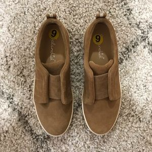 NWOT Tan Slip-on Sneakers